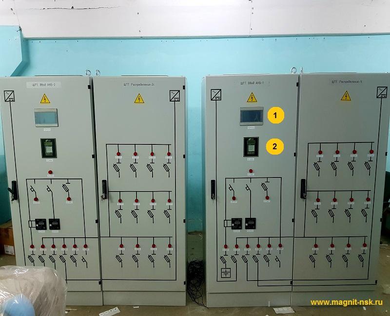 Щит постоянного тока - контроль изоляции постоянного тока